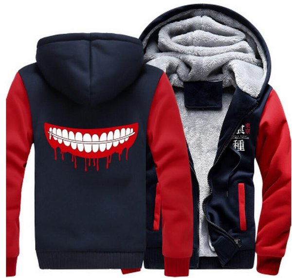 USA size Anime Tokyo Ghoul Ken Kaneki Cosplay Jacket Sweatshirts Thicken Hoodie Coat