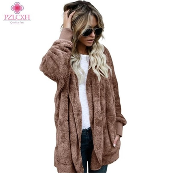 PZLCXHFaux Fur Jacket 2018 Autumn and Winter Fur Warm Coat In The Long Section of Two Sides Wearing Straight Splicing CoatsSX161