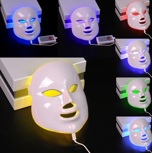 3/7 Couleurs Lumière Photon Électrique LED Masque Facial Peau PDT Rajeunissement De La Peau Anti-Thérapie De Beauté