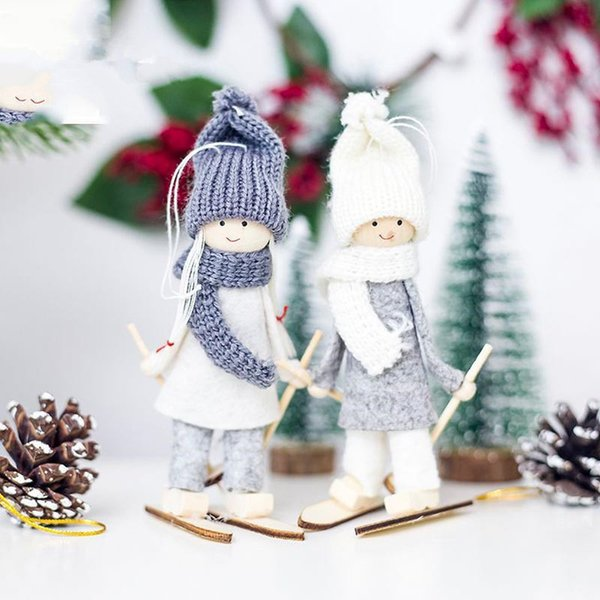 Compre Creativo Kawaii Ángel De La Navidad De Navidad Esquí Colgante ...