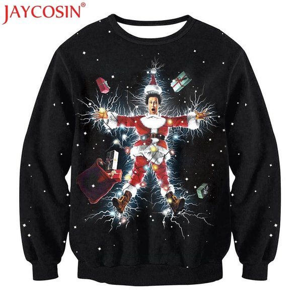 2019 JAYCOSIN Hoodies & Sweatshirts 3D Hoodies 2017 Winter New Christmas Women Sweatshirt Casual Pattern Pullover Nev29 Free Shiping