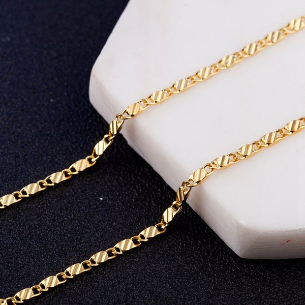 "New 18K Gold Thick Chain Necklace Fashion 16""-30"" New Design Hip Hop Jewelry For Club Party Free Shipping"