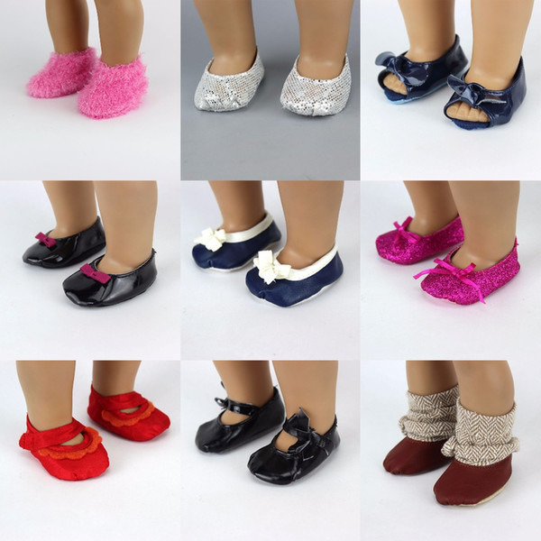 Wholesale-Fashon Shoes For 18inch American Girl Doll 45cm Doll Accessories