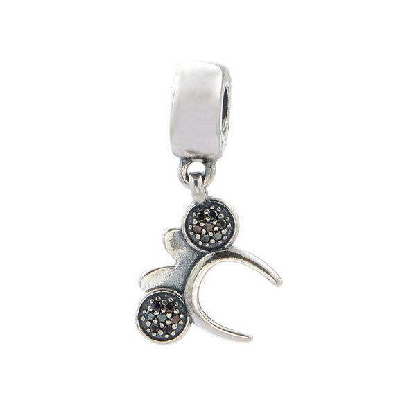 Nouveau bandeau Charms Perles Authentique 925 Sterling-Argent-Bijoux Pave Cristal Clair Dangle Cartton Animal Perle DIY Marque Bracelet Accessoires