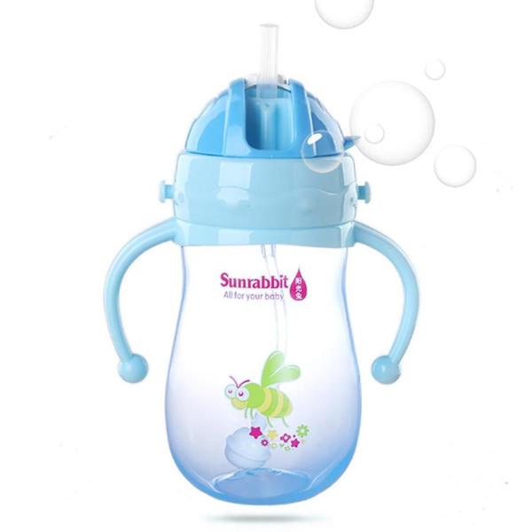 280/350ml baby bottle Infant toddler learning drinking water bottles BPA Free Natural Polypropylene Bottle for baby feeding R4