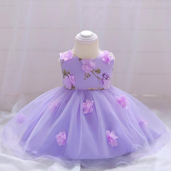 ABGMEDR Brand 0-24 mesi Little Girls Clothes Neonate Dress Dress Baby Dress Lovely Flower Lace Dress