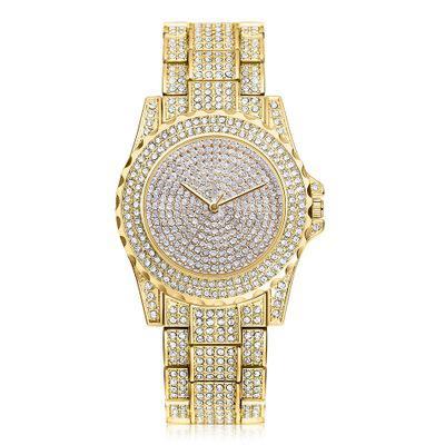 Neue Marke Gemstar Frauenuhr Hochwertiger Voller Diamant Mode Kristall Business Mode Zeiger Quarz Uhr
