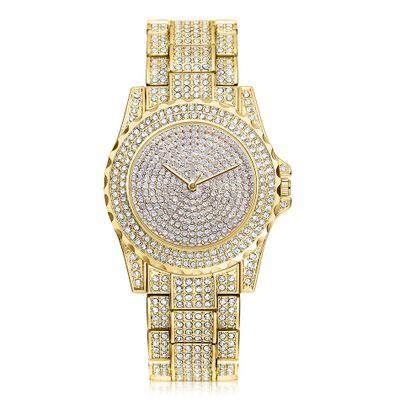 New Brand Gemstar Women Watch High Grade Full Diamond Fashion Crystal Business Fashion Pointer Quartz Watch