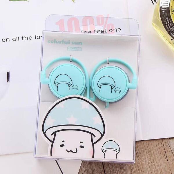 Cogumelo dos desenhos animados Fones De Ouvido 3.5mm Ear-hook Sports Music Headset Para O Estudante Crianças Presente Do Telefone Móvel Mp3