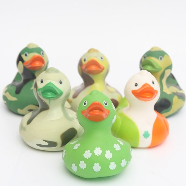 6pcs 2018 NEW floating ducks Cute Baby Water Bath camoulage rubber duck lassic Toys Gift For Boys Girls Baby