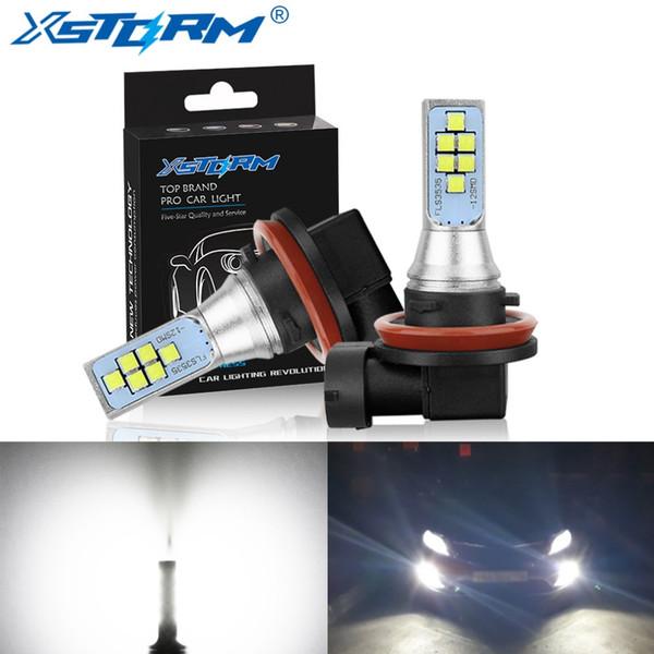 2Pcs H11 H8 Ampoule Led 9005 HB3 9006 HB4 H16 5202 PSX24W Led Brouillard De Voiture 1400LM 6000K Blanc 12V 24V DRL Auto Ampoules