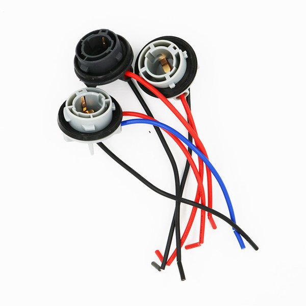 20pcs 1156 BA15S BAY15D 1157 Connector Female Car Light 1156 Socket Auto Bulb Wire Truck Light Vehicle LED Lamp Cable