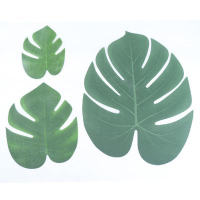 best selling Tropical Palm leaves Artificial palm Leaves Monstera Leaf Tropical Simulation Leaf Home Party Decoration Supplies S M L