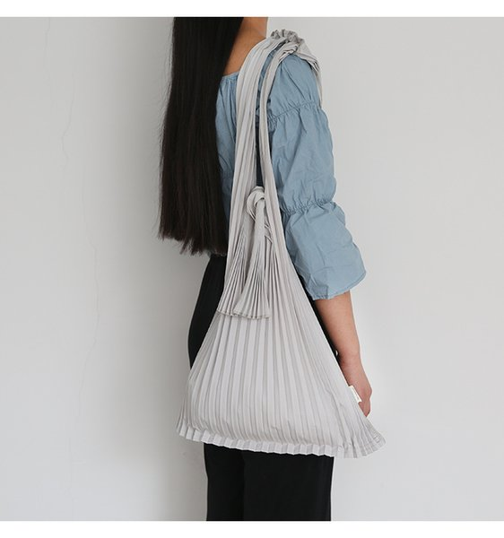 2018 New Simple Casual Shoulder Bags Women Arrival Solid Tote Canvas Bag Khaki Red White Folding Single Shoulder Bag Woman