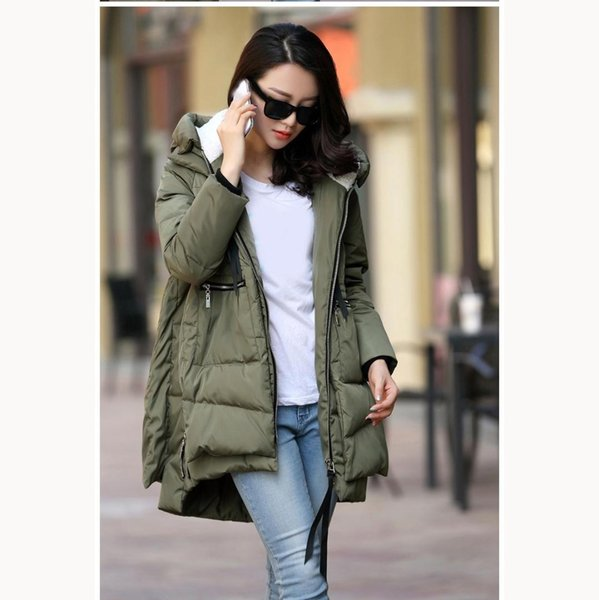 2018 Winter Women Hooded Warm Coat Outwear Female Thick Long Parka Coat Cotton Padded Plus Size