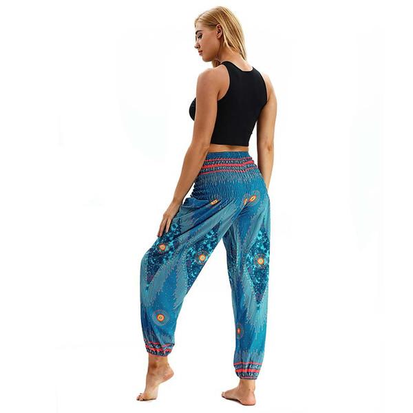 Women Lantern Yoga Pants Dancing Sports Wide leg pants Thailand Elastic Dancing Loose Fit Trousers