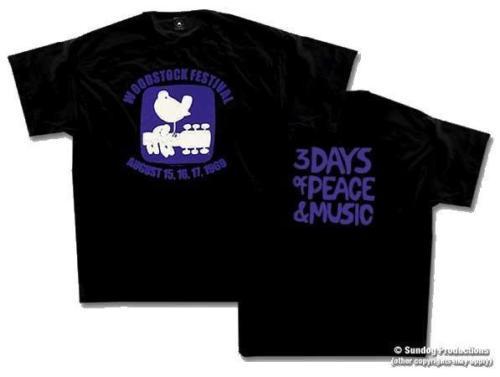 Woodstock Dove em uma camiseta Preta Mais Novo Top Tees Moda Estilo Homens 100% Algodão Clássico Masculino Hip Hop Engraçado Camisetas atacado barato