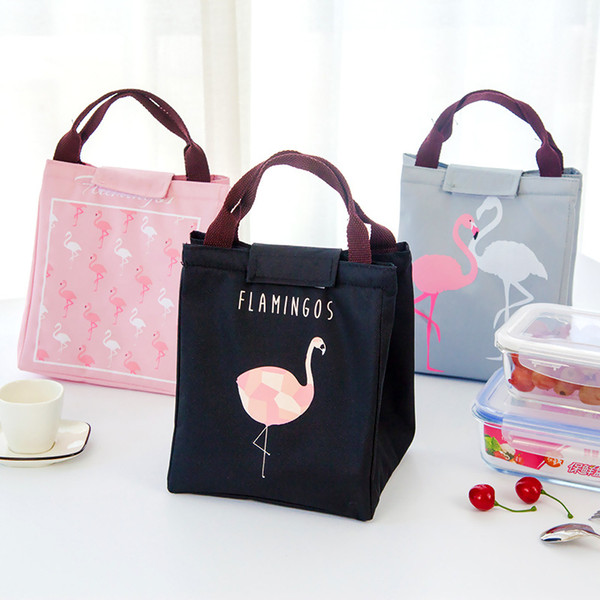 4 Colors Flamingo Insaluted Lunch Box Bags Dinner Plate Sets Handbags Travel Gadgets Closet Organizer Kitchen Accessories Home Decor