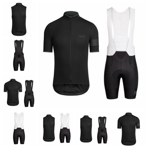 RAPHA team Cycling Short Sleeves jersey (bib) shorts sets 2018 Hot Sale new summer Breathable quick-dry MTB bike ropa ciclismo men 90719Y