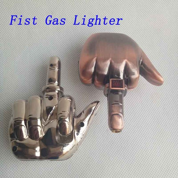 New Creative Fist Shaped Butane Cigarette Inflatable Lighter No Gas Plastic For Smoking Pipes Accessories Tools Sneak A Vape