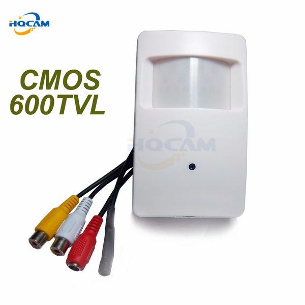HQCAM CMOS Color 600TVL CCTV security Camera Motion Detector PIR Indoor CCTV Mini cmos camera PIR Surveillance microphone