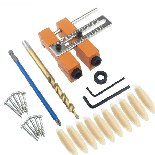 Aluminium Alloy Adjustable Oblique Hole Jig Kit Houtbewerking Tool for Wood Working Punch Locator Woodworking Tools