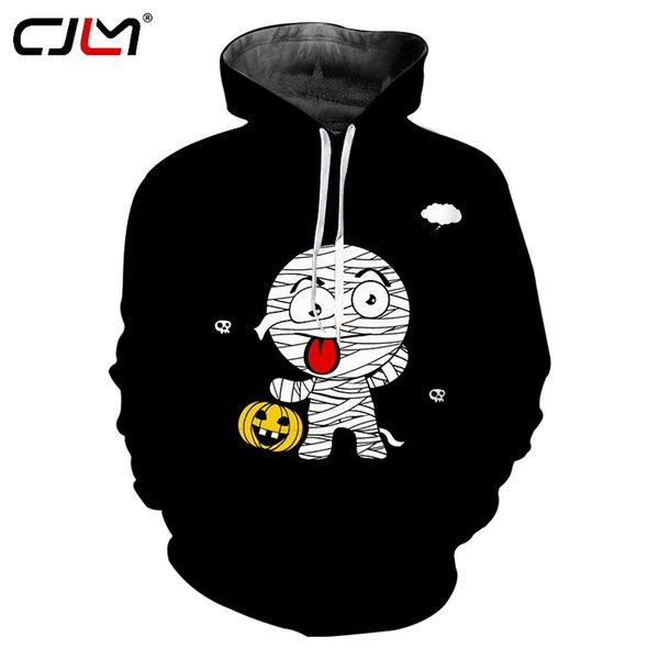 CJLM Halloween Man Lovely Anime Hoodies 3D Printed Munny And Pumpkin Autumn And Winter New Style Polyester Big Size 6XL