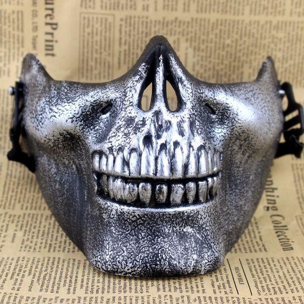 Máscaras de calavera Diversión Paintball PVC Airsoft Scary Skeleton Mask Juegos CS protectores de Halloween Carnaval Fiesta al aire libre