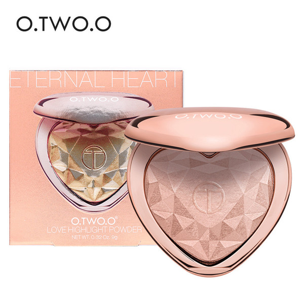 O.TWO.O Brand Shimmer Highlighter Powder 4Colors Palette Face Contouring Makeup Highlight Face Bronzer Highlighter Brighten Skin 9126