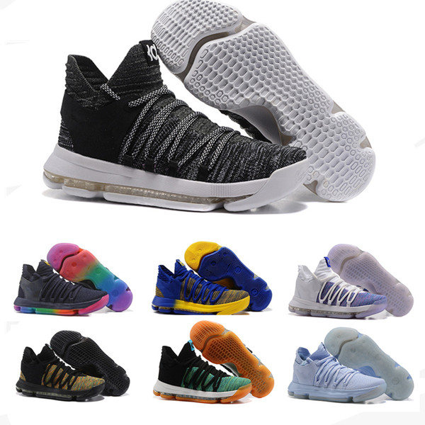 4fcd1656d6b 2018 New Kevin Durant X Zoom KD 10 Anniversay PE Elite FMVP Oreo Mens  Basketball Running Designer Shoes Trainers Sneakers
