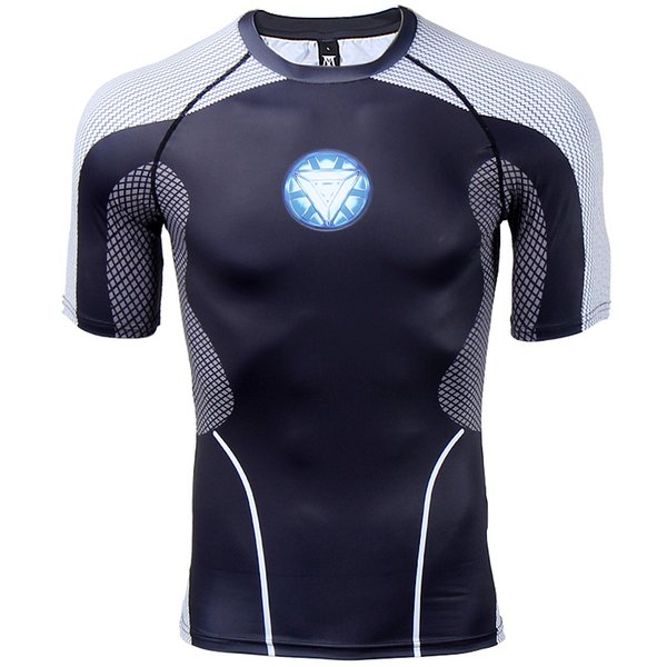 Compression Shirt Raglan Sleeve 3D Printed T-shirts Men Summer Fitness Male Quick Dry Bodybuilding Crossfit Tops