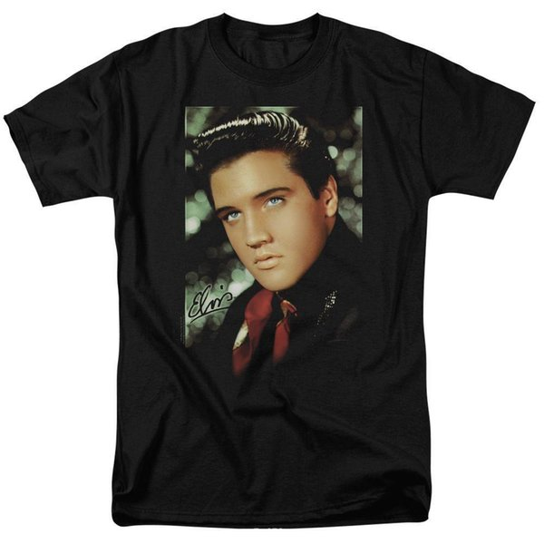 ELVIS PRESLEY RED SCARF MENS T SHIRT SMALL TO 3XLMens 2018 fashion Brand T Shirt O-Neck 100%cotton T-Shirt Tops Tee
