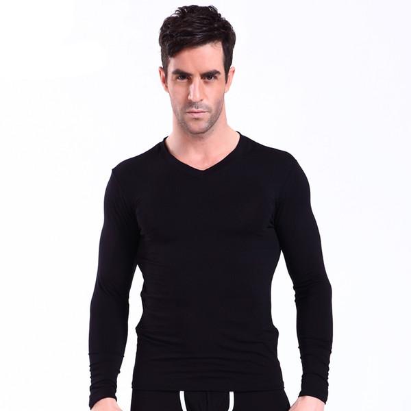 Clothing Men's Thermal Underwear Long Johns Soft Modal Tops Men Warm Pajamas 2018 Winter Fashion Undershirts Tops Only