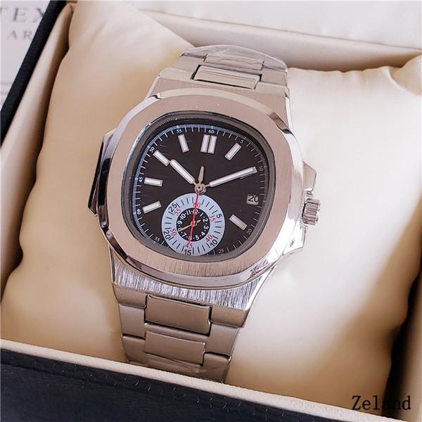 Patek Philippe watch LÜKS İZLE yüksek kalite takvim izle otomatik mekanik orta gül altın paslanmaz çelik kayış nautilus mens Saatı saatler