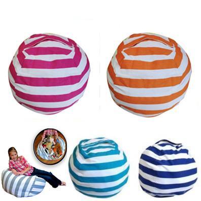 5 Couleurs 18 pouce Home Storage Bean Bags Pouf Sac Chaise Enfants Chambre Peluche Organisateur Sac En Peluche Jouets Bébé Tapis De Jeu CCA8938 50pcs