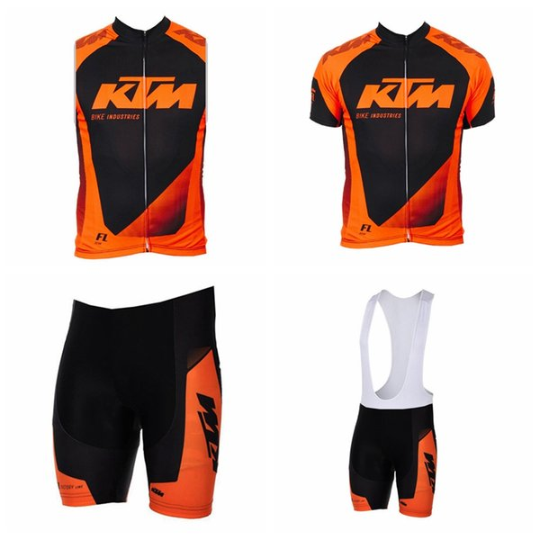 KTM team Cycling Short Sleeves jersey (bib) shorts Sleeveless Vest sets summer mountain Slim fit bike sweatshirt free delivery 60604