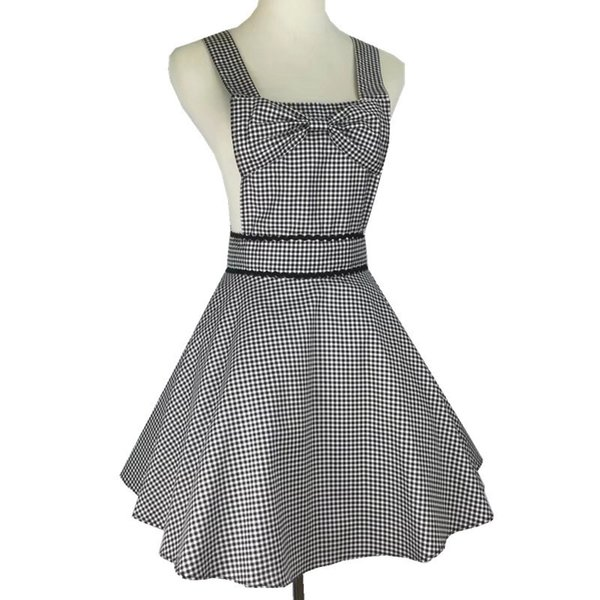 New Design Premium Quality Apron for Women Lovely Cotton Aprons with bow