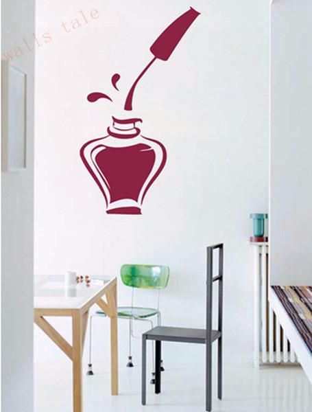 Nail Polish Beauty Manicure Salon Wall Window Vinyl Decal Sticker Nail Salon Ad Decor 30*54 cm