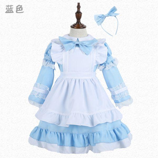 alice in wonderland lolita Sexy French Sissy Maid Sweet Gothic Dress Anime Cosplay Halloween Costumes For Women ren girls C18111601