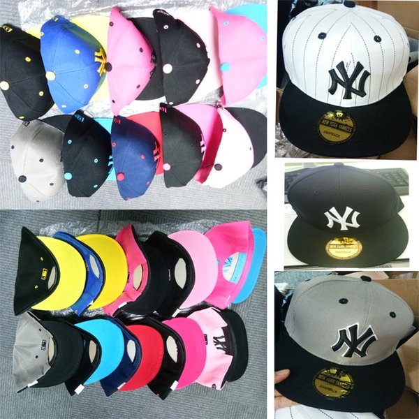 IN STOCK!!! Adult Snapbacks Hip-Hop Caps NY Caps Casual Peripheral Adjustable Baseball Hats Teenagers Outdoors Sports Sunshine Cap 25 Colors