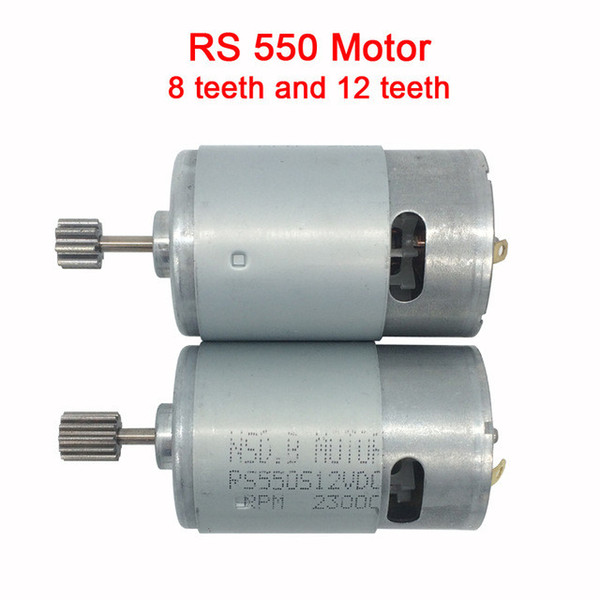 top popular Dc motor 12v for children electric car,rc car dc engine 6v, baby car electric engine, rs550 motor with 12 teeth and 8 teeth gear 2021