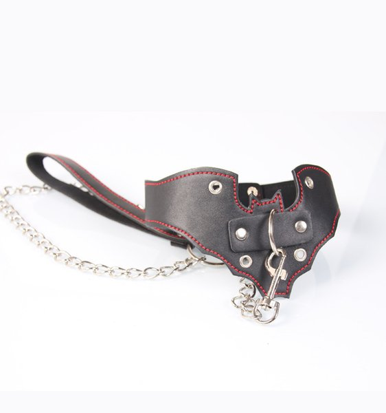 Women Bondage Collar Sex Fetish Strapon Sexy Lingerie Adult Toys Necklace Bdsm Collar PU Leather With Lock Sex Toys For Y18102405