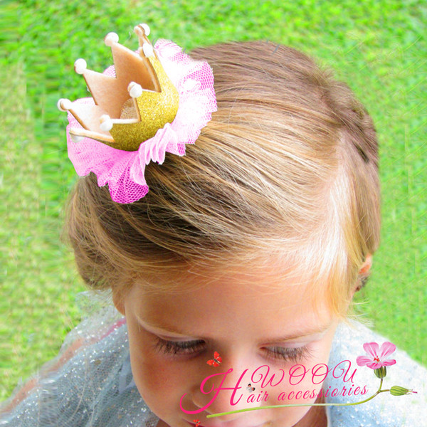 5pcs Headband rhinestone chiffon crown Headband Bow Fashion beautiful Flower Kids Baby Warm Hair Accessories For Kids H128