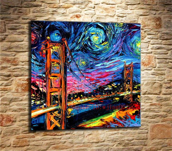 2019 Golden Gate Bridge Painting Canvas Pieces Home Decor Hd Printed Modern Art Painting On Canvas Unframed Framed From Wjing001 5 98 Dhgate Com