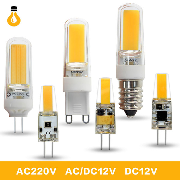 1PCS/lot LED G4 G9 Lamp Bulb AC/DC 12V 220V 6W 9W dimmable COB SMD LED Lighting Lights replace Halogen Spotlight Chandelier