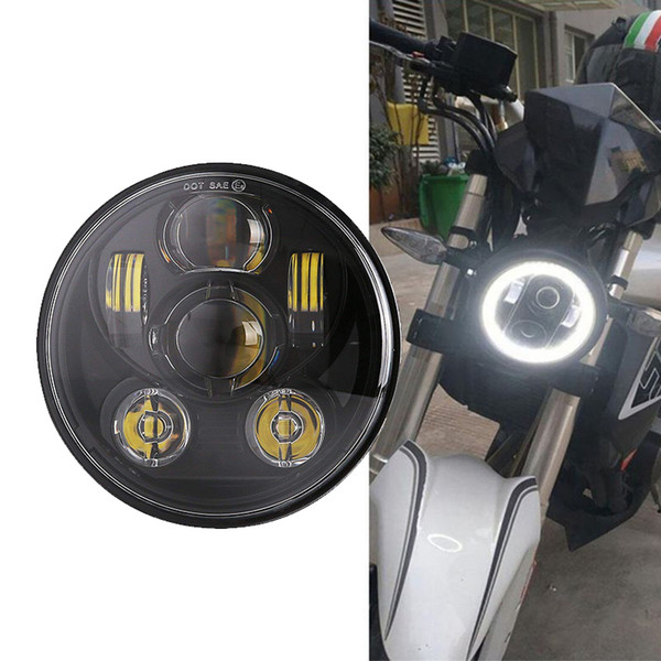 5-3/4'' 45W dual Beam LED Projector Headlamp 5.75inch Round Led headlight for Harley Sportster,Dyna