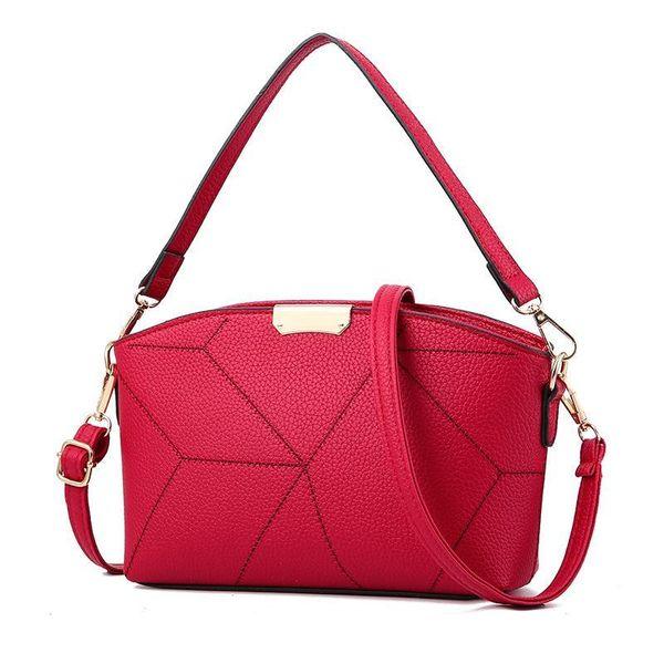 PU Shoulder Bag Waterproof Stone Pattern Car Line Women's Hand-Held Simple Shoulder Bag Diagonal Lady Cross Body New Female Bags