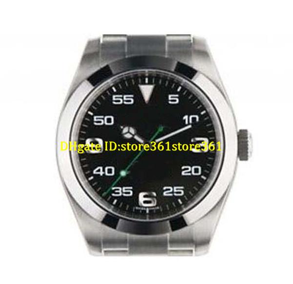 Store361 chegam novas relógios de luxo relógio dos homens dos homens relógios de Pulso automático de aço inoxidável pulseira de discagem preta 40mm 116900