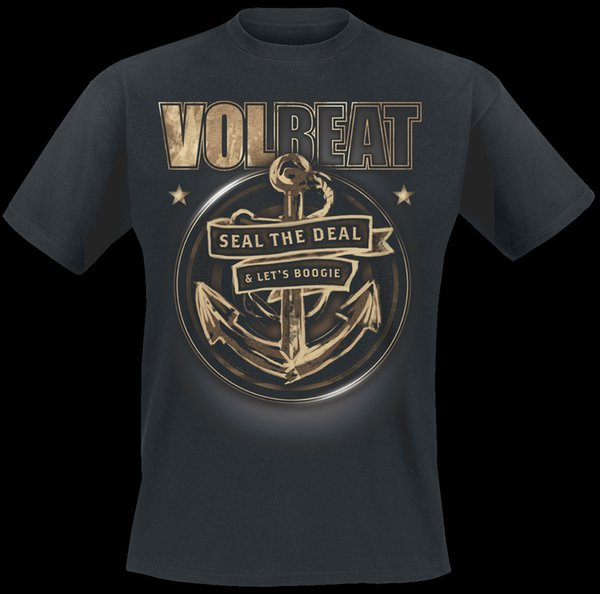 Volbeat Anchor T-Shirt black hoodie hip hop t-shirt jacket croatia leather tshirt denim clothes camiseta?t shirt cat windbreaker Pug tshirt