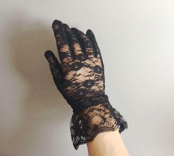 2018 heißesten Verkauf Partei Handschuhe Brauthandschuhe weiß schwarz Spitze lange elegante Braut Hochzeit Handschuhe